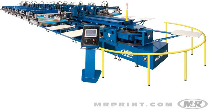 m r automatic screen printing machine
