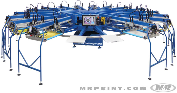 M Amp R Challenger Iii D Automatic Screen Printing Press Rc